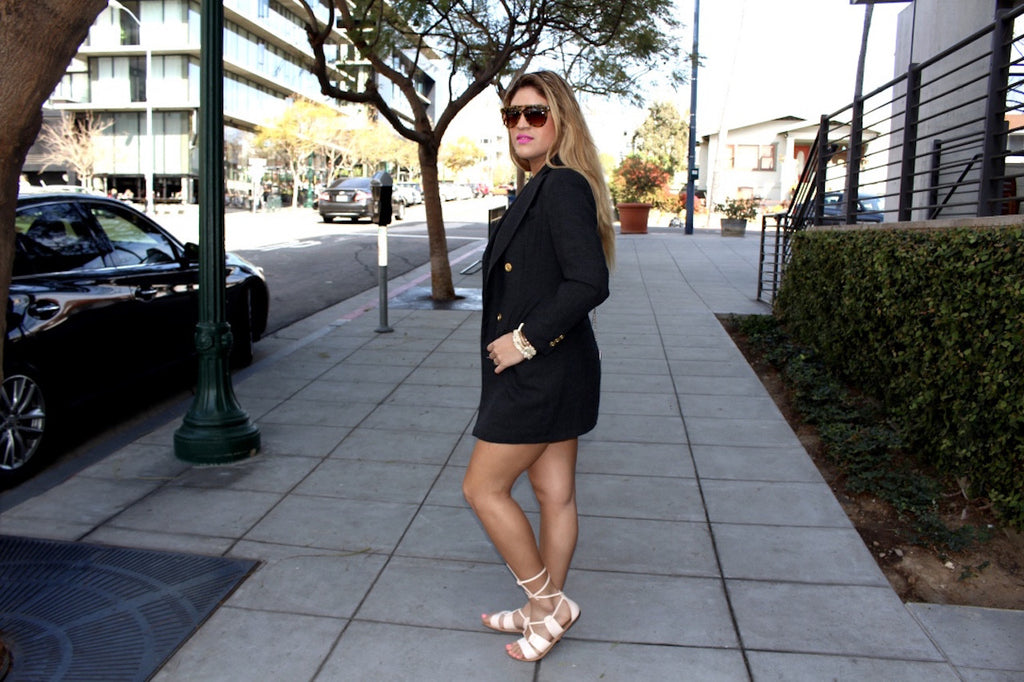 blazer in the city | spring outfits | fashion blog