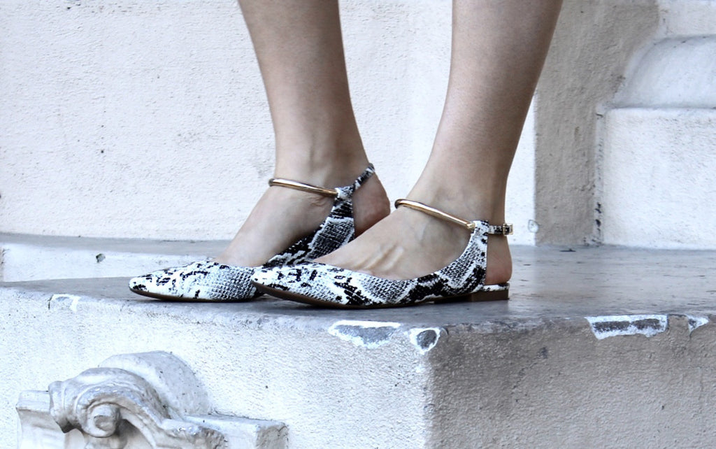 snake skin flats | skin shoes | city flats