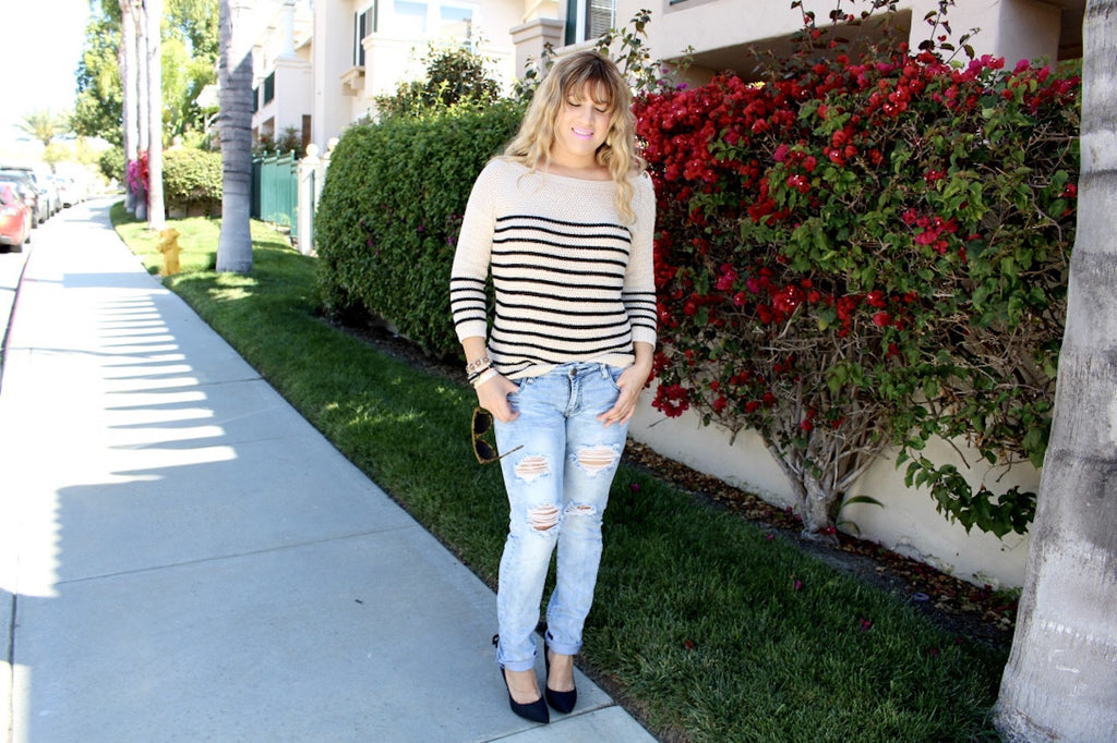 knitted sweater | queen bee fashion blog