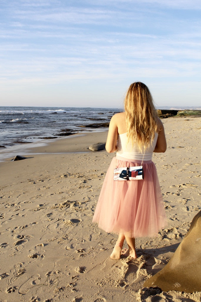 cross body purse | pink tulle skirt