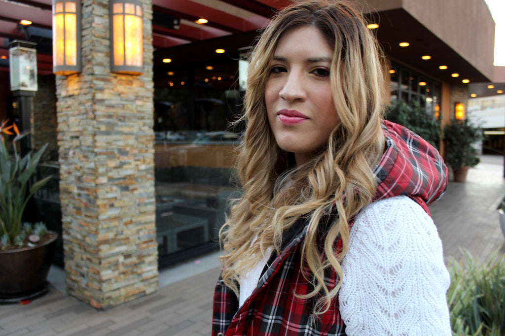 plaid vest | white sweater | queen bee fashion blog