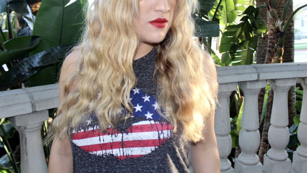 wavy hair | 4th of july hairstyle