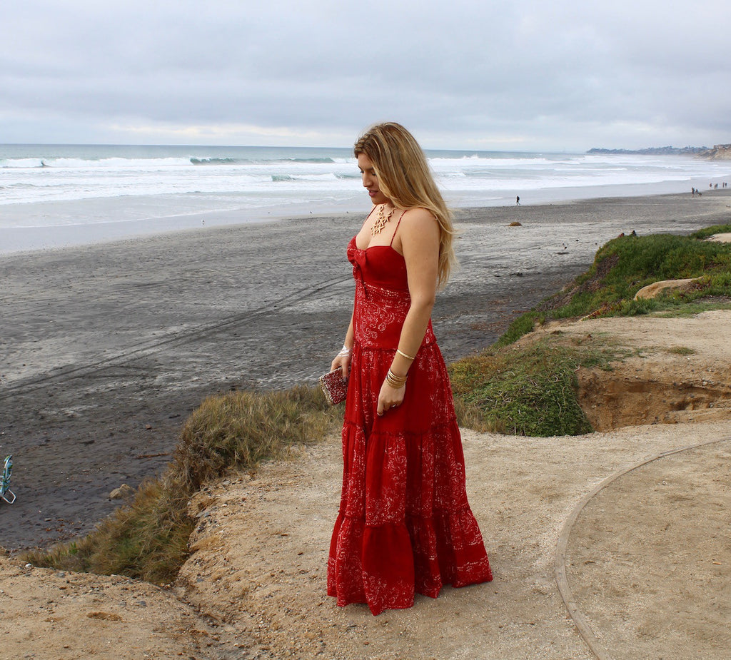long maxi dress | red dress