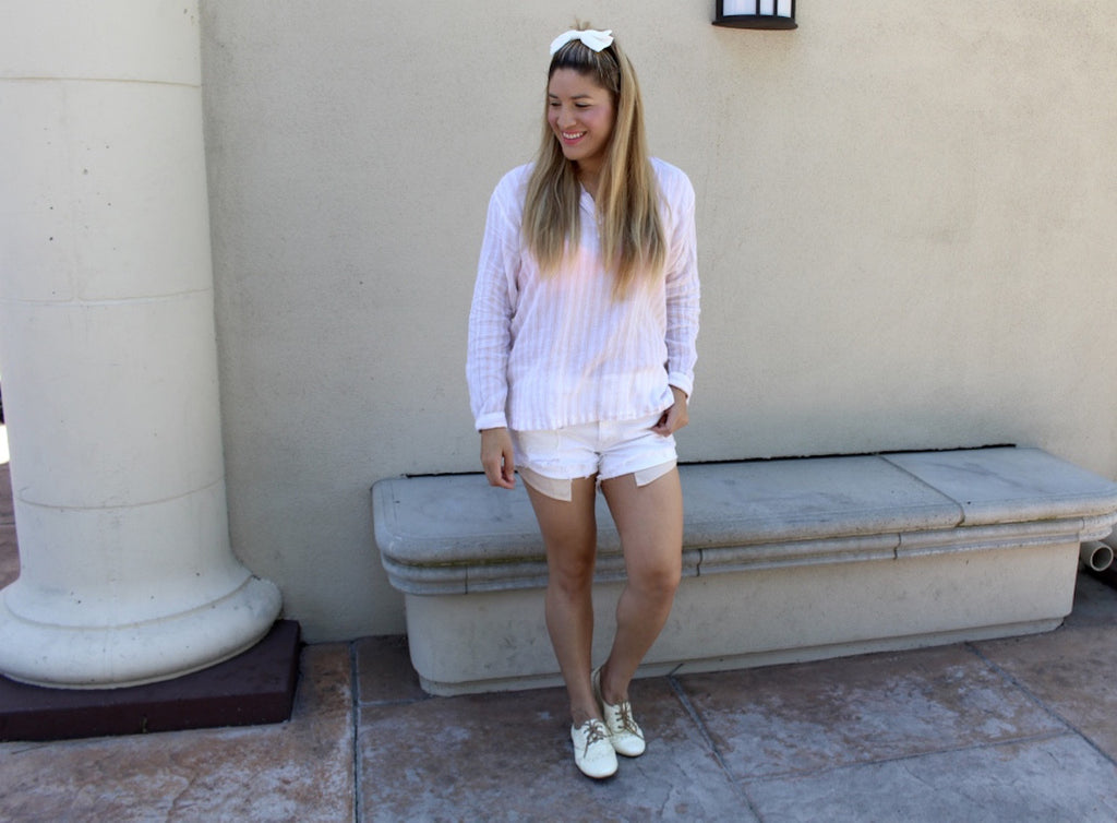 casual outfit | sneakers and shorts