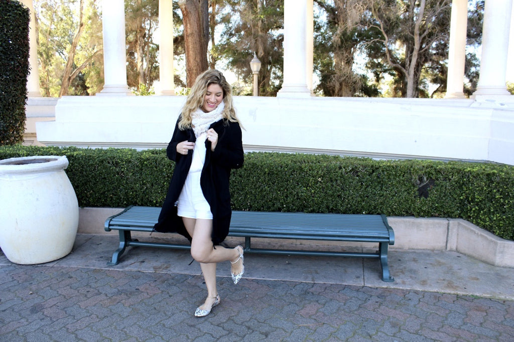 winter spring outfit | transitioning