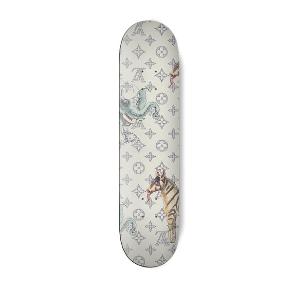 Jungle Print Skateboard