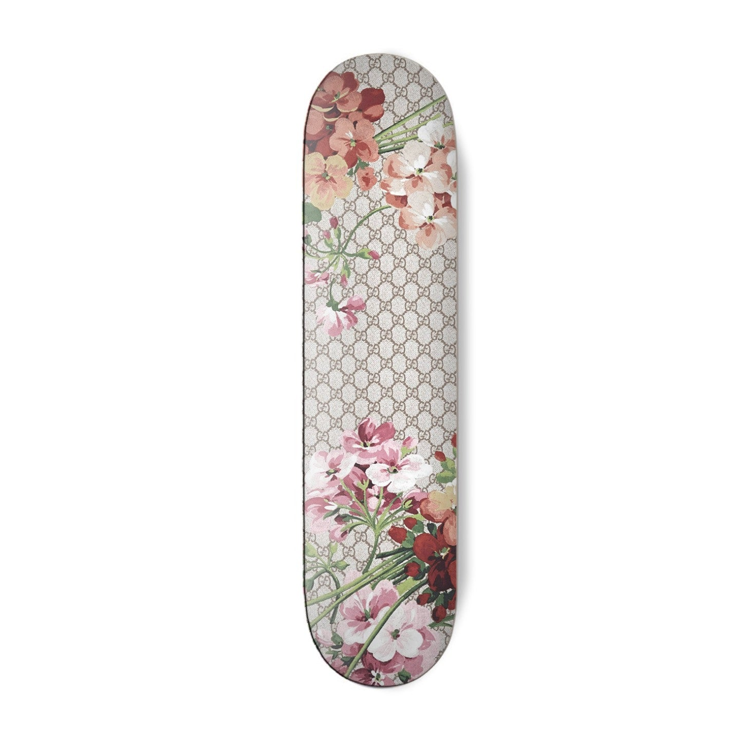 Classic Floral Pink Skateboard