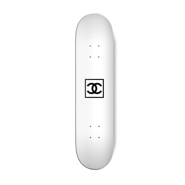 Square White Skateboard