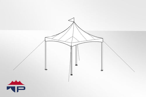 10x10x8 Festival CAN-T Frame Tent