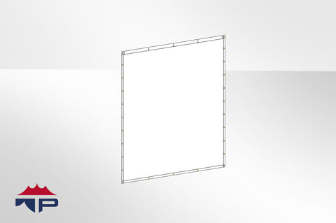 10'x10' Solid Wall- White