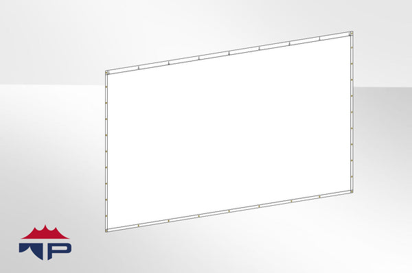 10'x20' Solid Wall- White