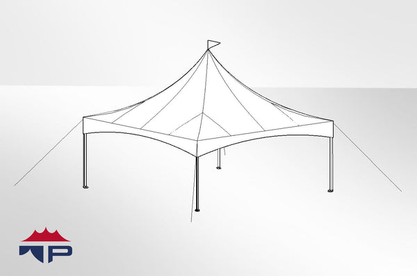 20x20x8 Festival CAN-T Frame Tent
