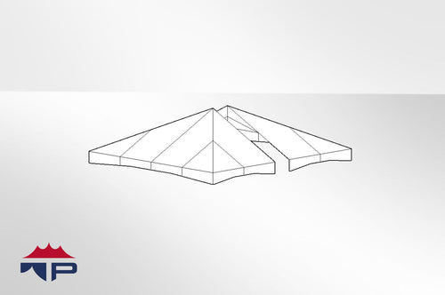 20x20 2pc Jumbotrac® Tent Top UW