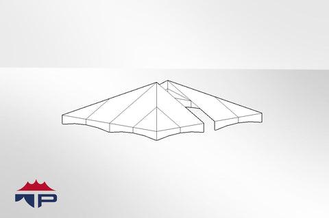 20x20 2pc Jumbotrac® Lite Tent Top UW