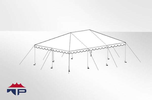 20x30x8 Traditional Frame Tent Complete | UW
