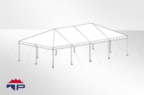 20x40x8 Traditional Frame Tent Complete | UW