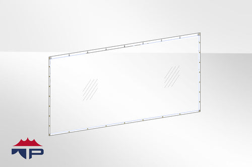 8'x20' Clear Wall- UW Trim