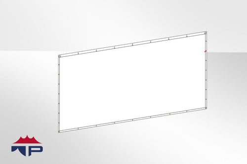 8'x20' Solid Wall- White