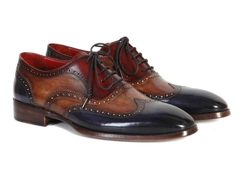 Paul Parkman Men's Three Tone Wingtip Oxfords (ID#PP2278)