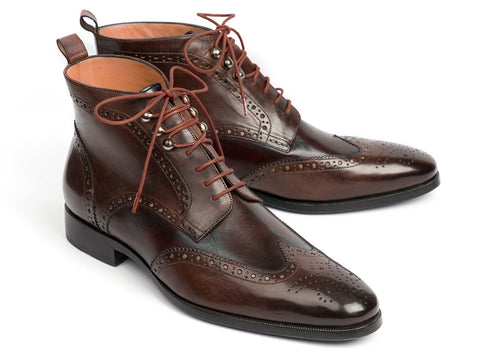 Paul Parkman Wingtip Ankle Boots Brown (ID#CH777BRW)
