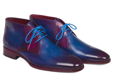 Paul Parkman Men's Chukka Boots Blue & Purple (ID#CK55U7)