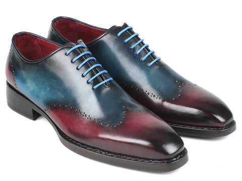 Paul Parkman Goodyear Welted Wingtip Oxfords Blue & Purple (ID#081-BPX)