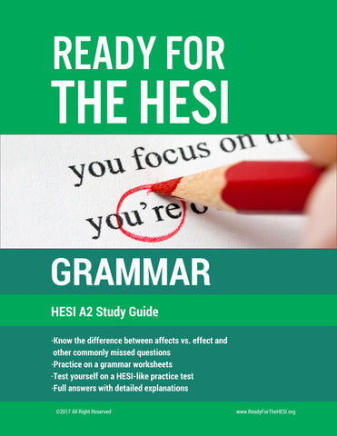 HESI A2 Grammar E-Study Guide: Download and study right away!