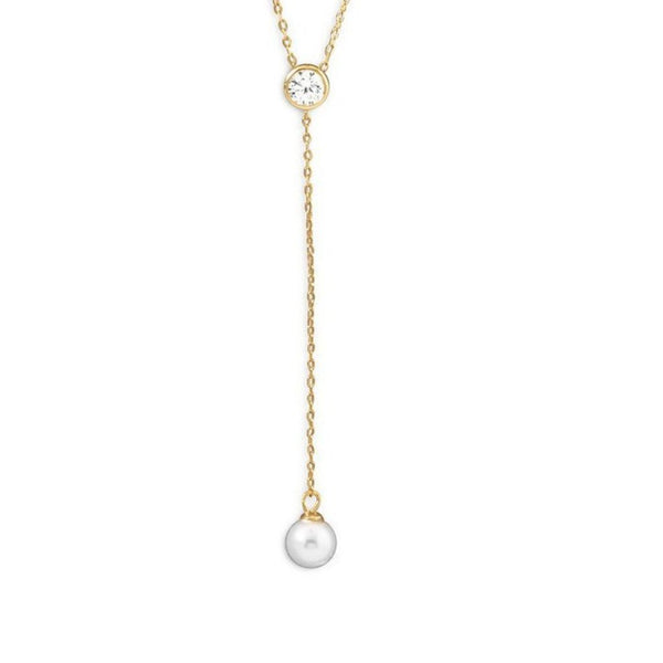 Pearl Drop Necklace, Necklaces, [GLITIC], [Personalized_Jewelry], [Vegan_Bags]