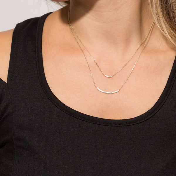 Gold Plated Layered Necklace - GLITIC