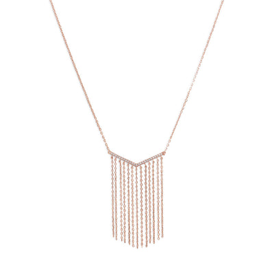 V-Tassel Drop Necklace-Necklaces-GLITIC