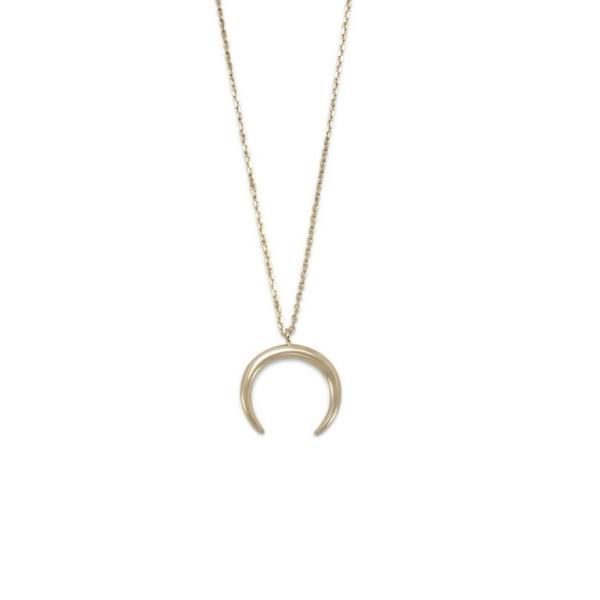 Necklaces Crescent Moon Necklace - GLITIC