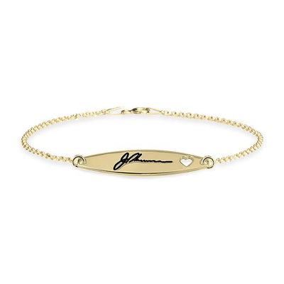 Signature Bracelet With Heart-Bracelets-GLITIC