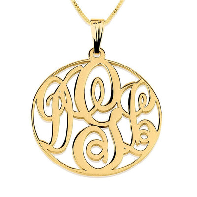 Necklaces Circle Monogram Necklace - GLITIC