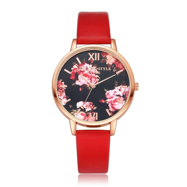 Watches Addison Watch - Red - GLITIC