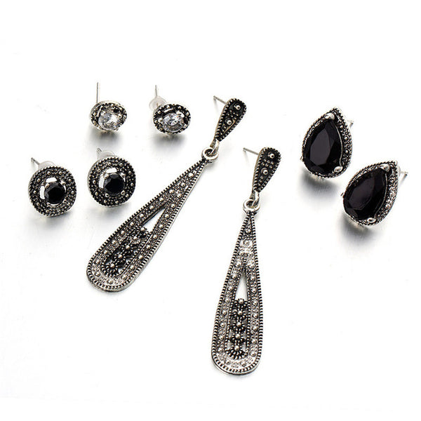 Earrings Gypsy Crystal Stud Earring Set - GLITIC