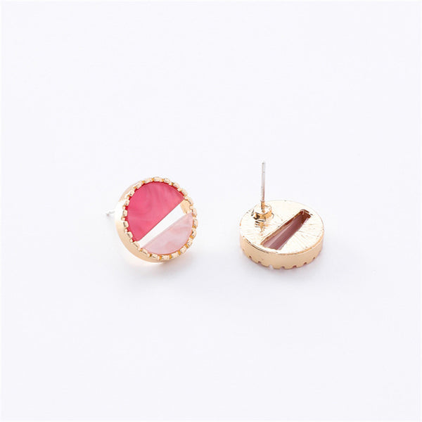 Earrings Geometric Shell Stud Earrings - GLITIC