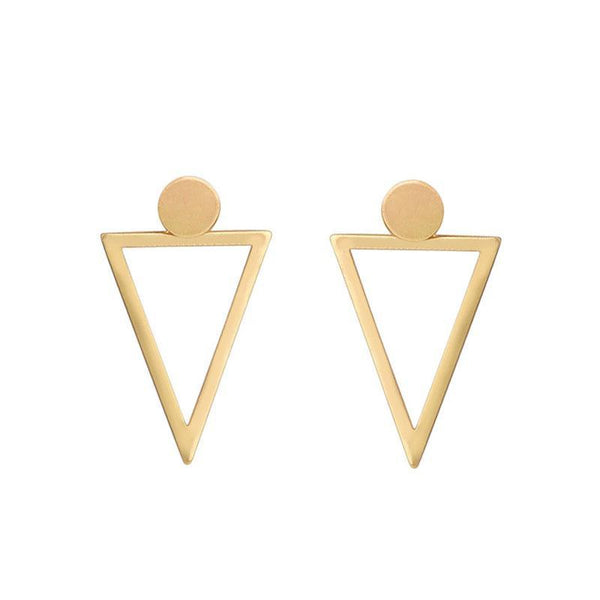 Earrings Triangle Hollow Stud Earrings - GLITIC