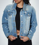 Del Records Bleached Denim Jacket