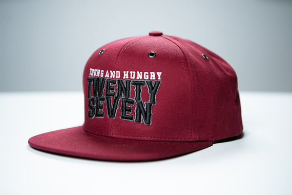 TWENTY SEVEN TEXT YOUNG & HUNGRY HAT