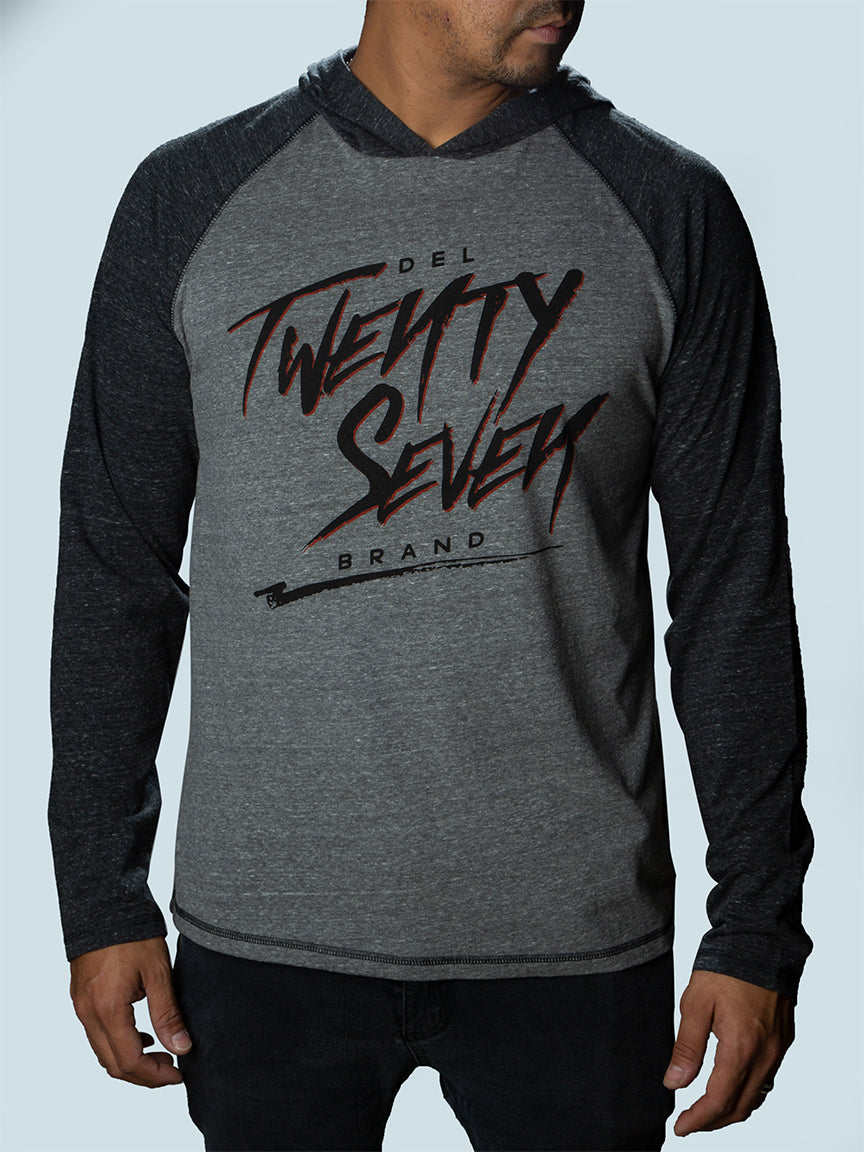 Twenty Seven Triblend  Long Sleeve Hooded Pullover