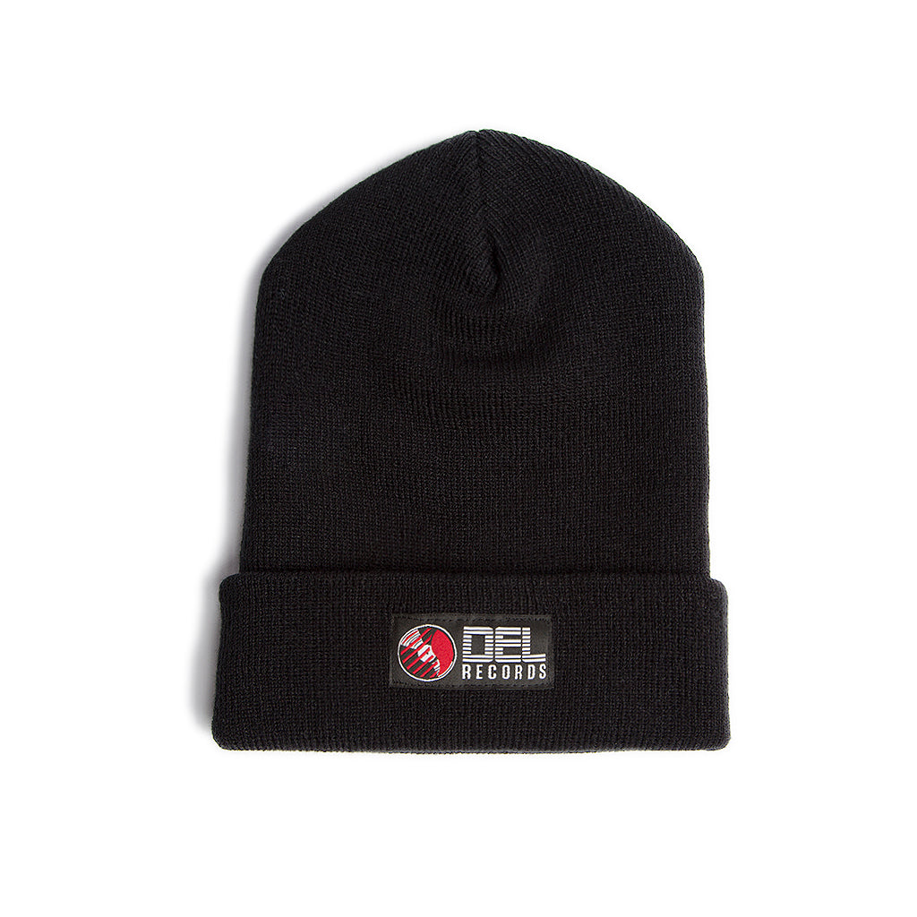 Del Records Woven Label Beanie