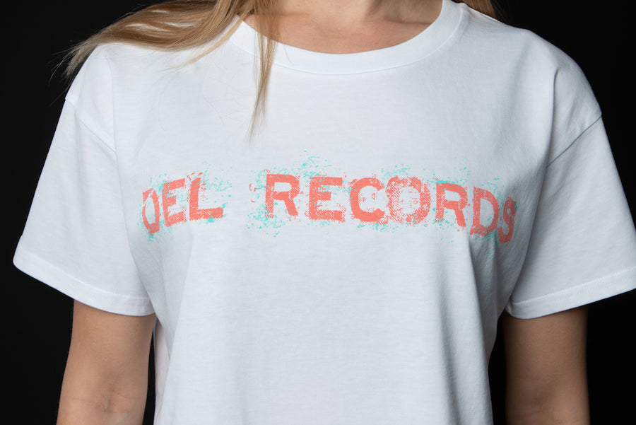 Del Records Splatter Crop Top