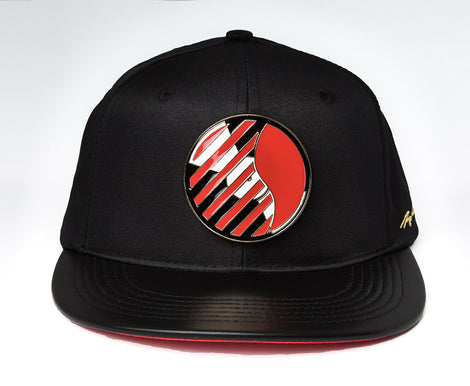 Del Circle Logo Gold Plaque Snap Back