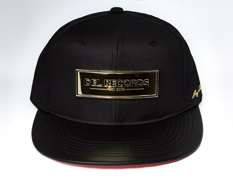 Del Records Gold Plaque Snap Back