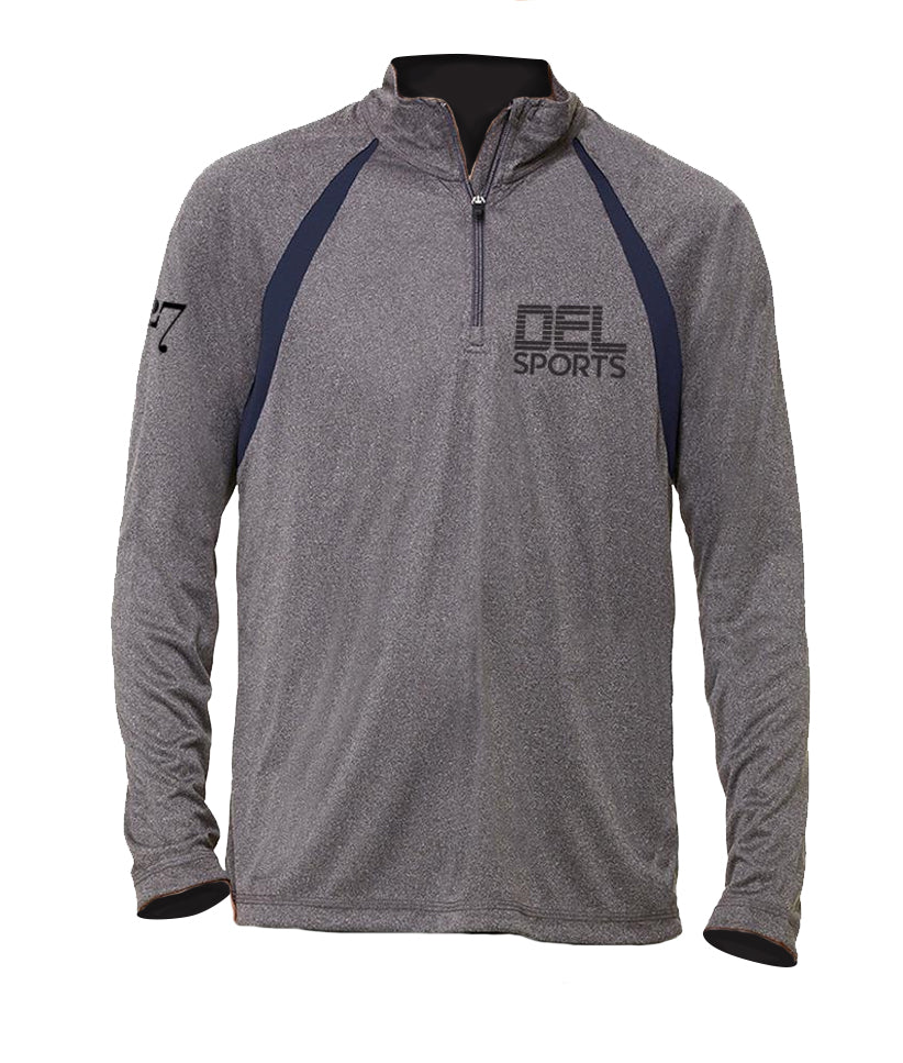 Del Sports Logo 1/4 Zip Fitness Shirt