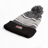 Del Records Woven Label Beanie with Poof