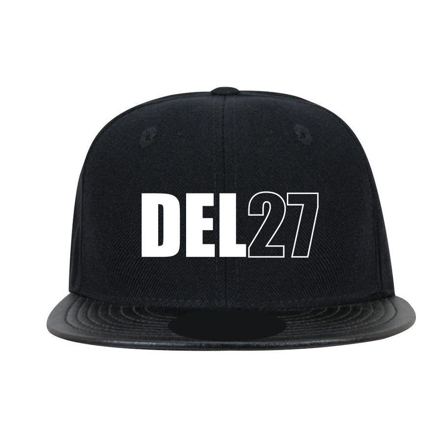Del 27 Leather Snapback