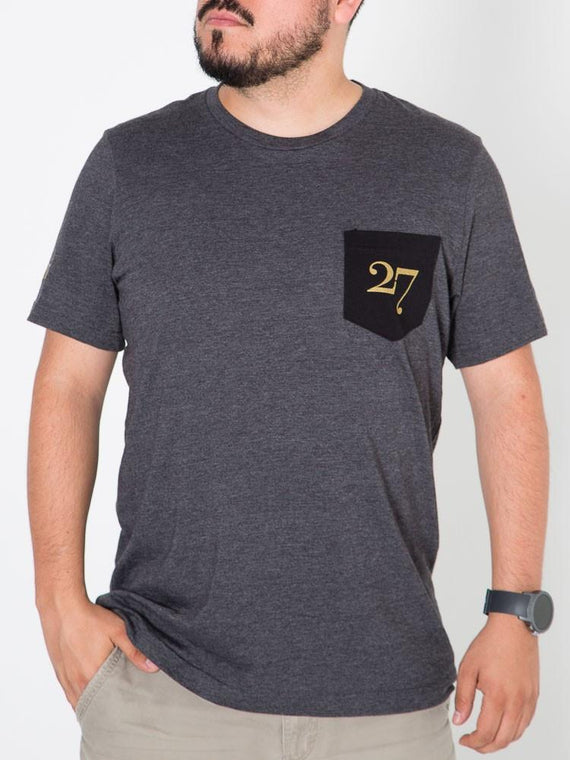 27 Brand Logo Men's Pocket Tee