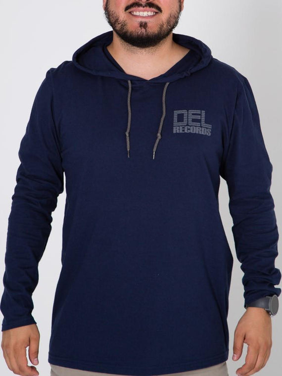 Del Records Logo Hooded Tee