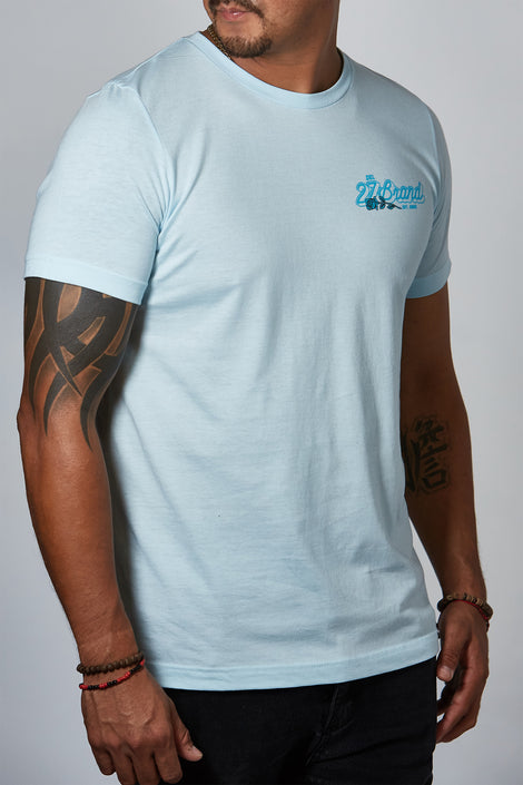 Twenty Seven Rose Ice Blue Unisex Tee